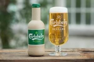 Carlsberg представив експериментальні зразки паперових пляшок
