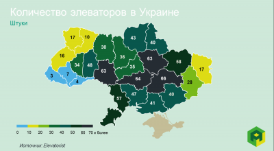Карта элеваторов Украины: в каких областях больше всего зерновых хранилищ