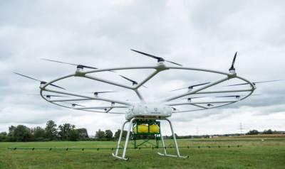VoloDrone — найбільший вантажний дрон для виконання сільськогосподарських робіт