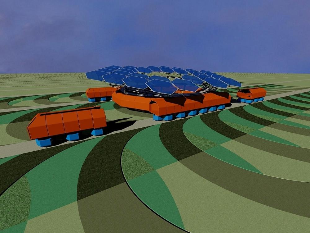 Робот и грузовые модули