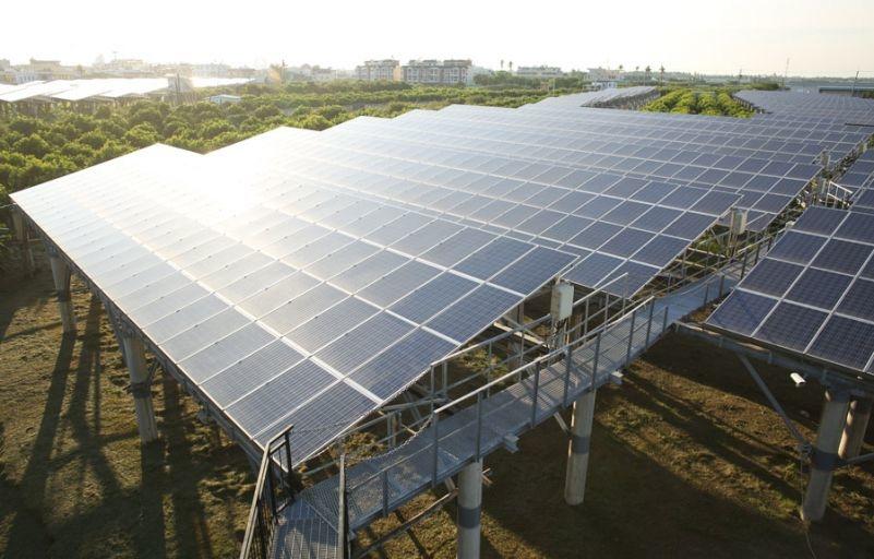 Солнечная ферма на юге Тайваня