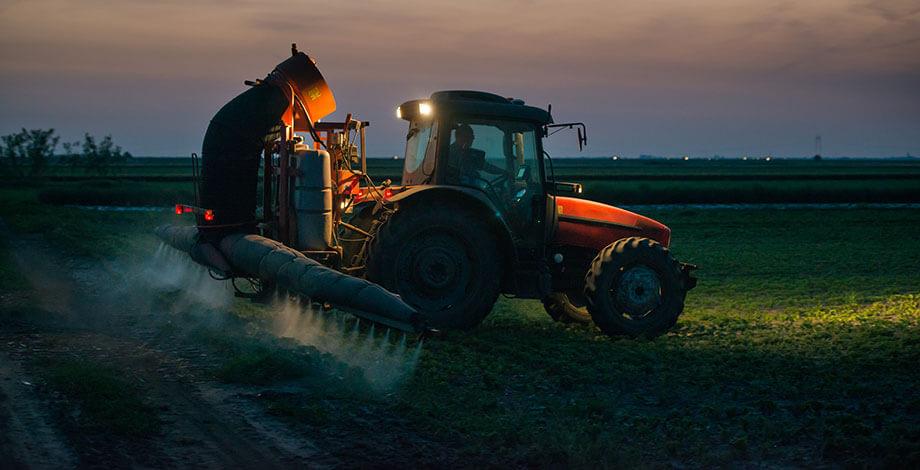 tractor-night