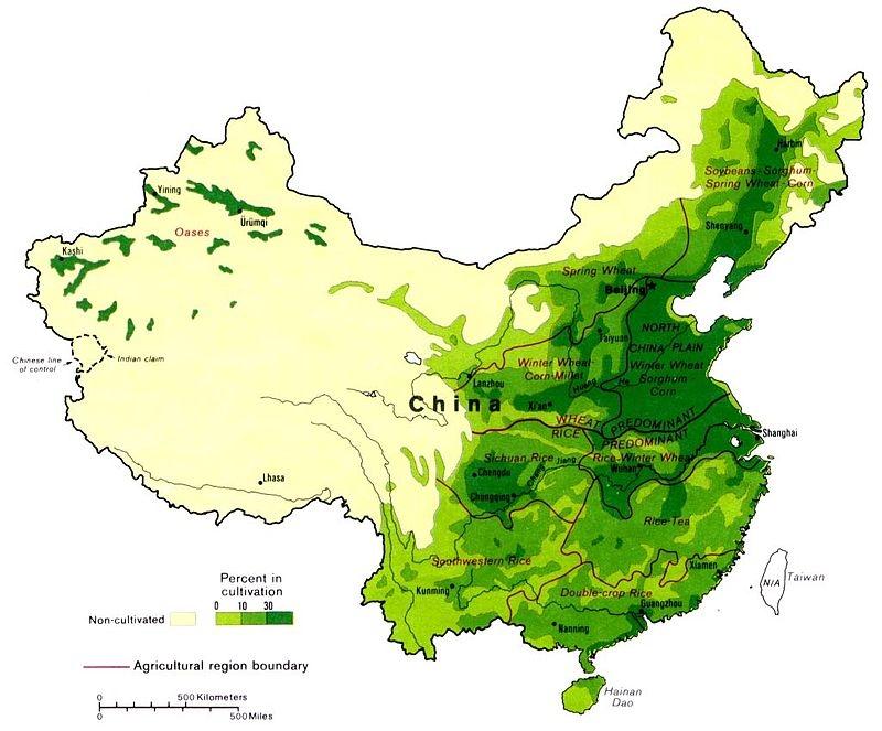 Сельскохозяйственные регионы Китая