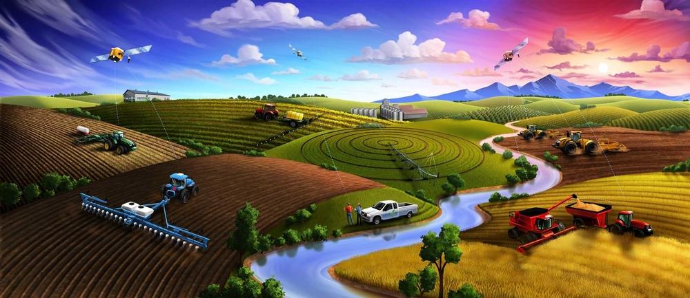 Точное земледелие — это спутниковые технологии и компьютеры.